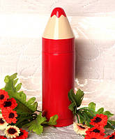 """Дитячий термокухоль SUNROZ Pencil Vacuum Cup """"Олівець"""" 280 мл Червоний  (SUN3464), фото 1"""