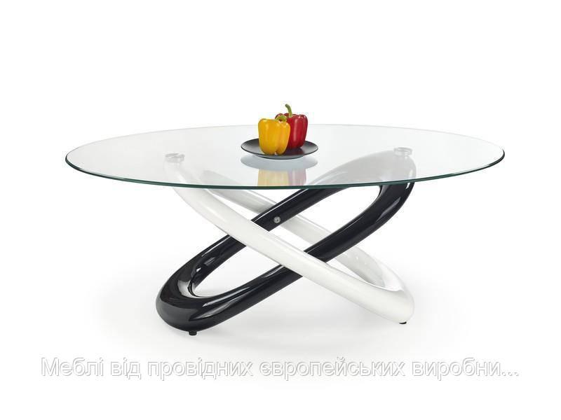 Стол GOBI (бело-черный) (Halmar)