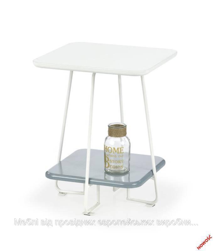 Стол MANDY (серо-белый) (Halmar)