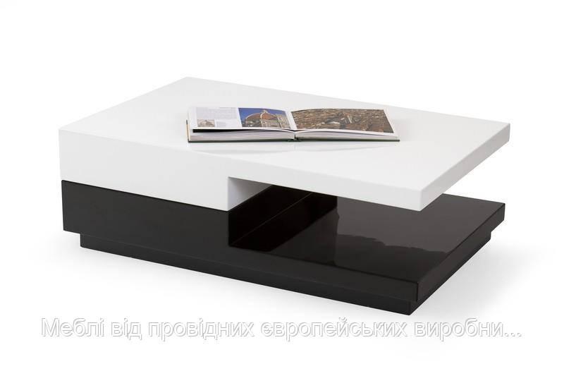 Стол MONTANA (бело-черный) (Halmar)