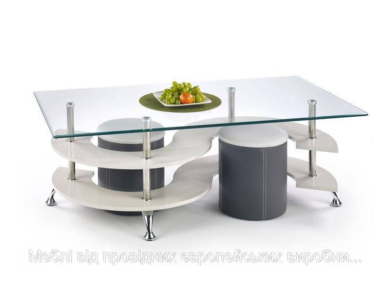 Стол с пуфами NINA 5 (серый) (Halmar)