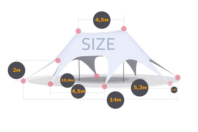 шатер большой двух-купольный