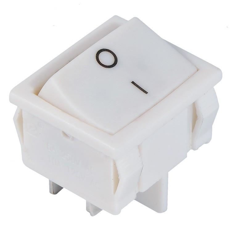 KCD1-6-201 W/W Переключатель 1 клавишный белый