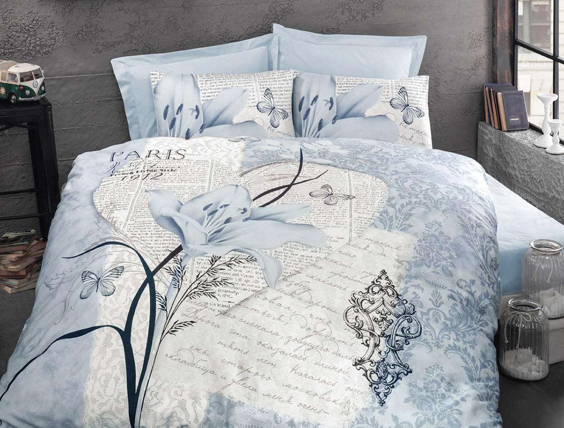 Постельное белье Arte bella blue, ранфорс ТМ Идея полуторный