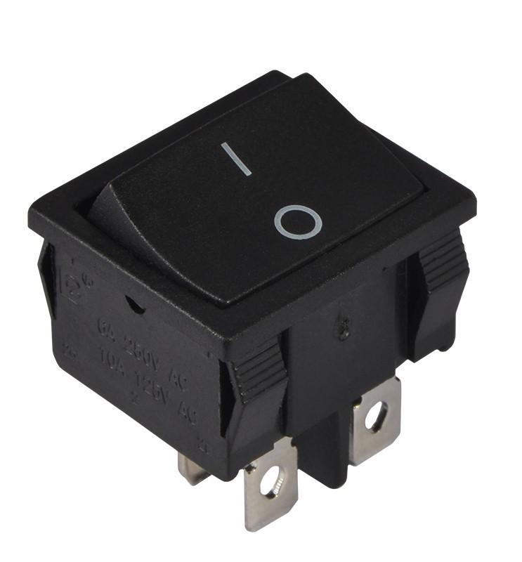 KCD1-6-201 B/B Переключатель 1 клавишный черный TNSy (TNSy5500726)