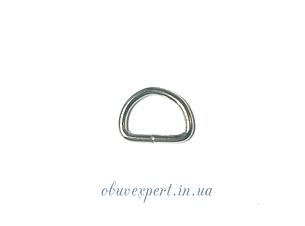 Полукольцо  проволочное 9,5*6,5 мм, толщ. 1,5 мм мобильное Никель (10 шт), фото 2