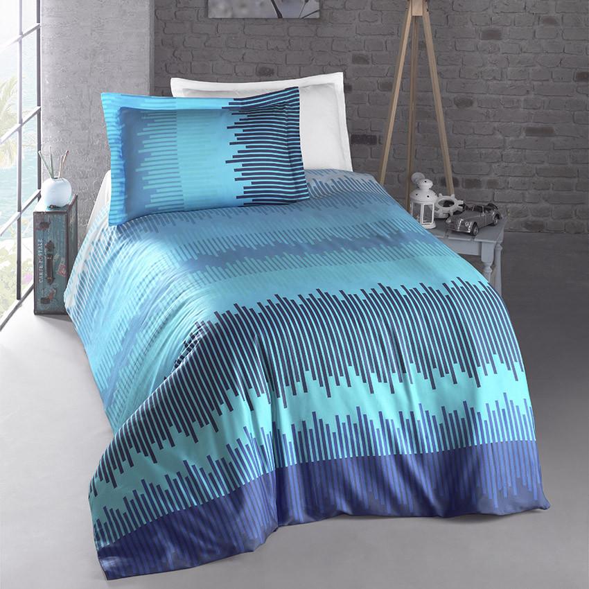 Постельное белье  Energy blue, ранфорс ТМ Идея полуторный