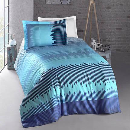 Постельное белье  Energy blue, ранфорс ТМ Идея полуторный, фото 2