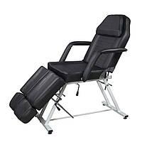 Педикюрное кресло кушетка 813А цвет черный
