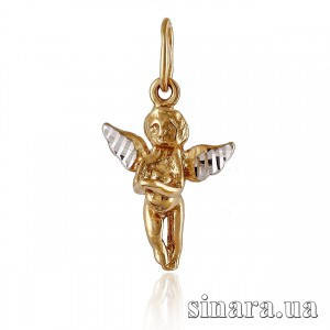 Золотая подвеска Ангел 19894