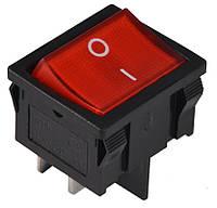 KCD1-6-201N R/B 220V Переключатель 1 клавишный красный с подсветкой TNSy (TNSy5500732)