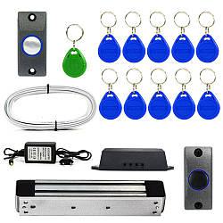 Электромагнитный замок на калитку ЕМ280-ЕВ на 280 кг комплект для самостоятельной установки