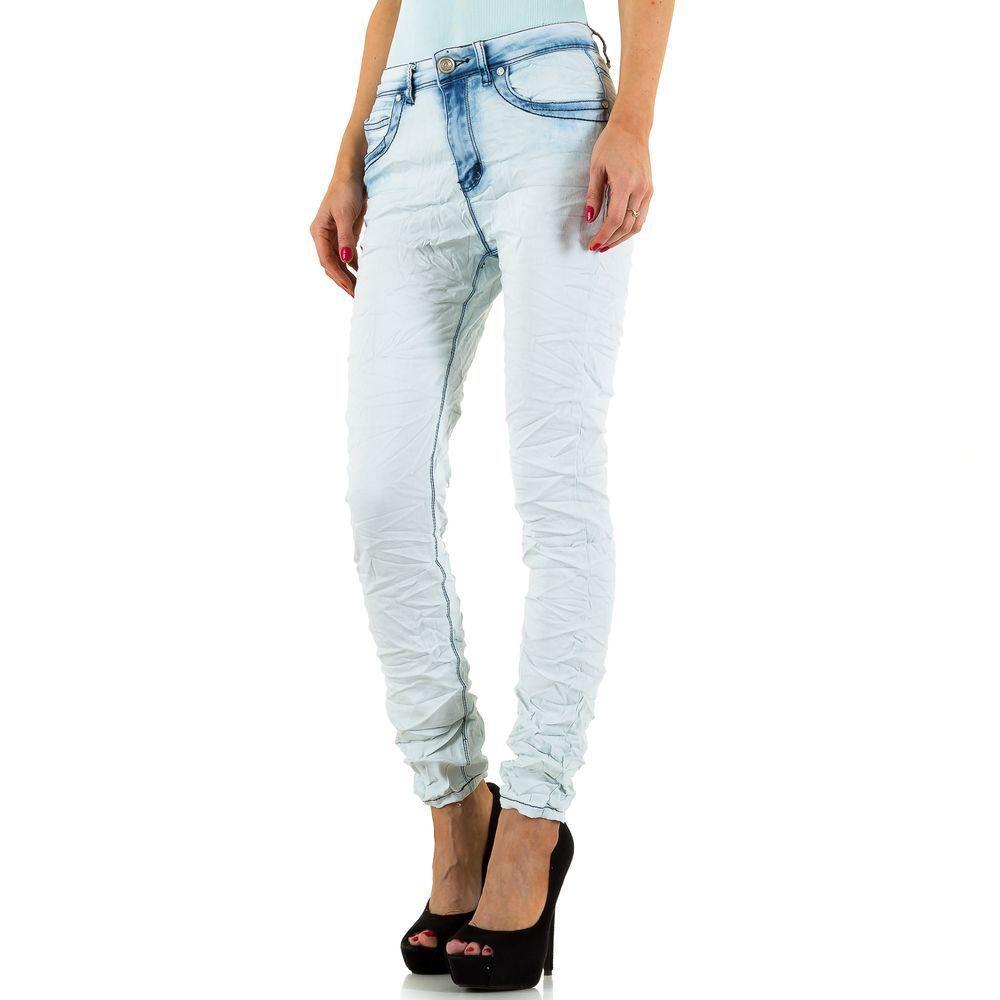 Женские вареные джинсы помятые R.Jonaco (Англия), Голубой