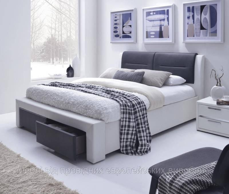 Кровать CASSANDRA S (бело-черный) (Halmar)