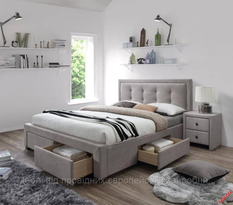 Кровать EVORA  (бежевый) (Halmar)