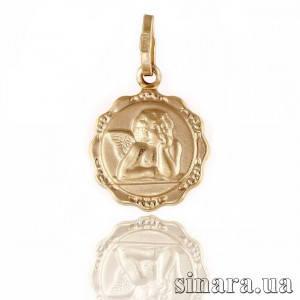 Золотая подвеска Ангелочек 6379