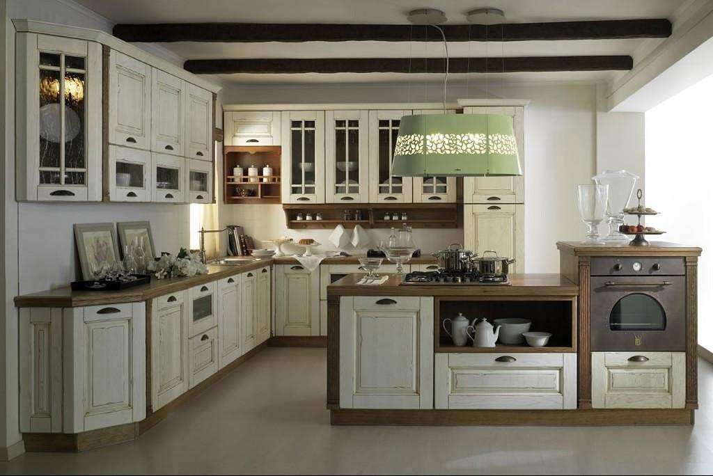 Кухня с патиной бронза