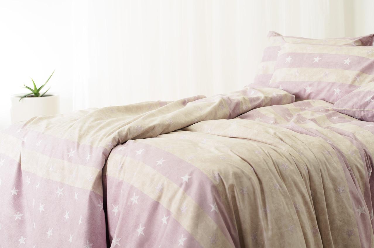 Постельное белье Звезда фиолет, ранфорс ТМ Идея полуторный