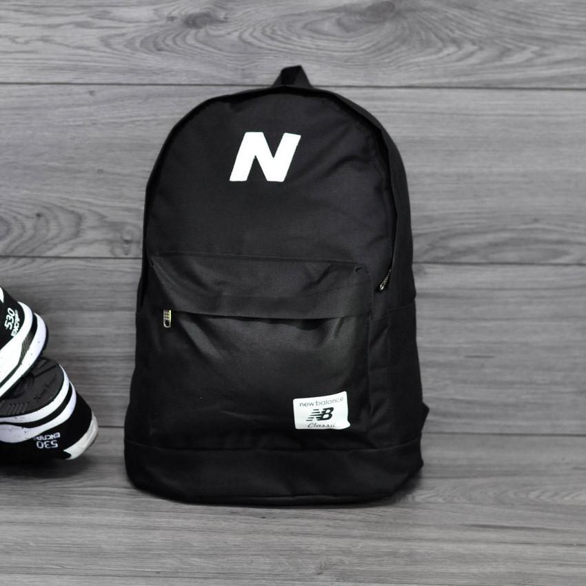 Рюкзак New Balance, нью бэланс Молодежный городской, спортивный портфель Черный (Реплика)