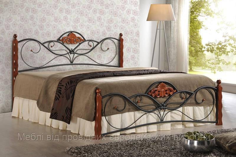 Кровать VALENTINA (вишня) (Halmar)
