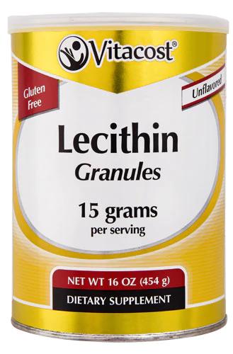 Лецитин в гранулах, Vitacost, Lecithin Granules Unflavored, 454 грами