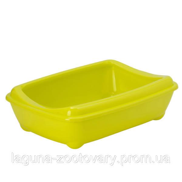 Moderna МОДЕРНА АРИСТ-О-ТРЭЙ туалет для кошек, с бортиком, 50х38х14см, лимонный