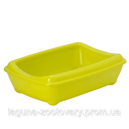 Moderna МОДЕРНА АРИСТ-О-ТРЭЙ туалет для кошек, с бортиком, 50х38х14см, лимонный, фото 2