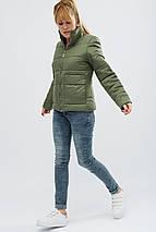 Куртка женская демисезонная -31069-1, (Хаки), фото 3