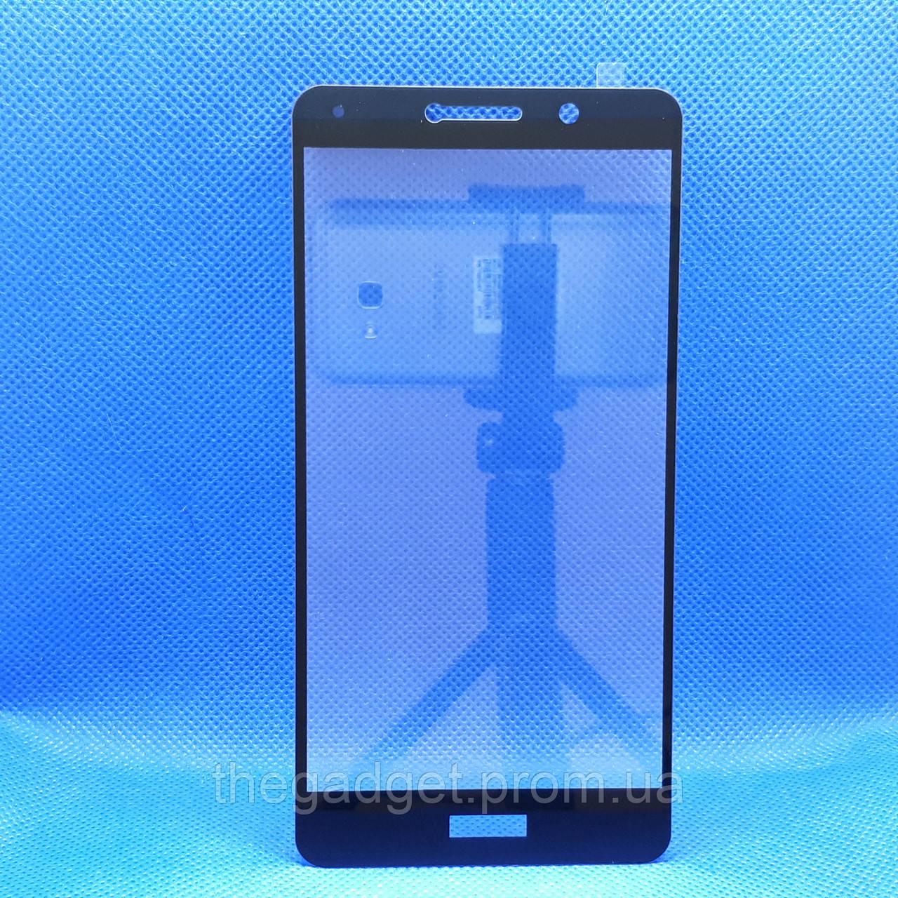 Защитное стекло для Huawei Honor GR5 (KII-L21) (2017) Черное на весь экран