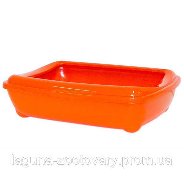 Moderna МОДЕРНУ АРІСТ-ПРО-ТРЕЙ туалет для котів, з бортиком, 50х38х14см, помаранчевий