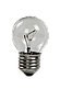 Лампа накаливания Шар  60 Вт Е 27 прозрачный, фото 2