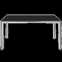 Стол Papatya Idea 140x80x75 хром, столешница черная