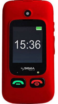 Телефон Sigma Comfort 50 Shell DUO Black-Red Гарантия 12 месяцев, фото 2