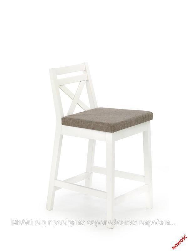 Барный стул BORYS LOW (белый) (Halmar)