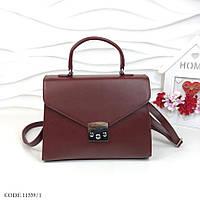 e6e2d1fa8fbf Сумка-портфель женская классическая сумка деловая экокожа марсала 11339/1