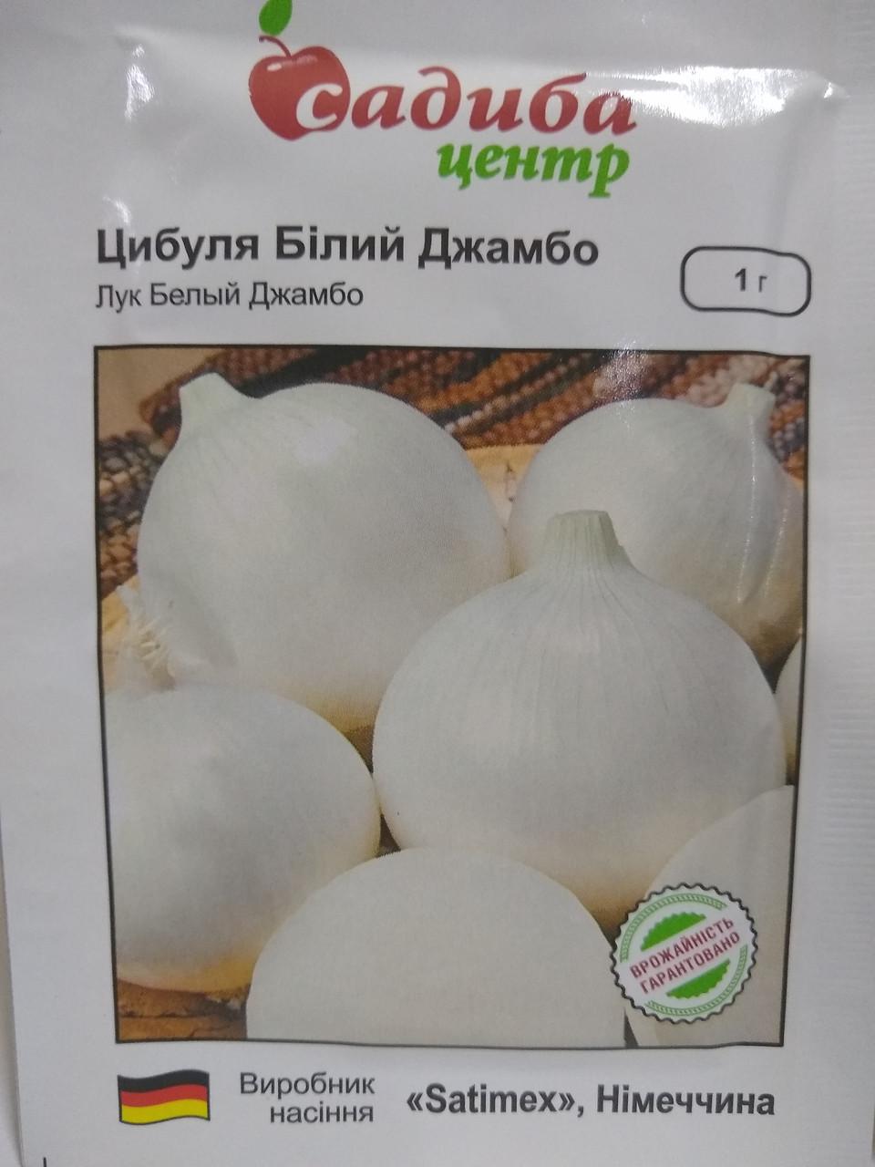"""Цибулю білий Джамбо середньопізній сорт, 1 грам """"Satimex"""", Німеччина"""
