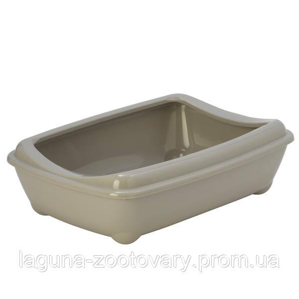 Moderna МОДЕРНА АРИСТ-О-ТРЭЙ туалет для кошек, с бортиком, 50х38х14см, теплый серый