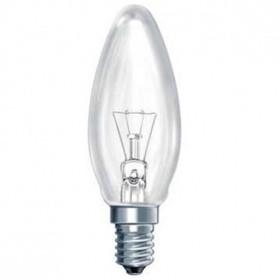 Лампа накаливания Свеча 40 Вт Е 14 прозрачная
