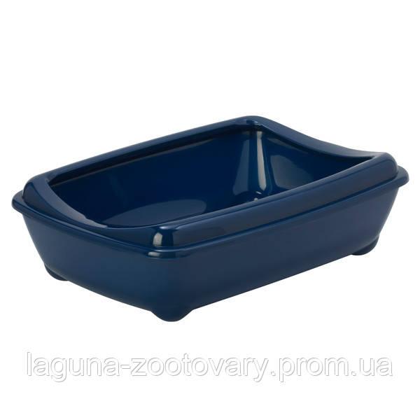 Moderna МОДЕРНА АРИСТ-О-ТРЭЙ туалет для кошек, с бортиком, 50х38х14см, черничный