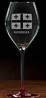 """Бокал для вина гравировкой """"Грузия"""""""