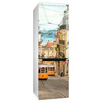 Интерьерная виниловая наклейка на холодильник Лиссабон 01 (пленка самоклеющаяся фотопечать)