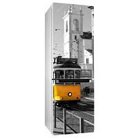 Интерьерная виниловая наклейка на холодильник Лиссабон 02 пленка города страны Португалия 650*2000 мм