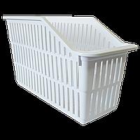 Органайзер для холодильника на 1 отделение узкий белый