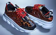 Кроссовки женские Versace Chain Reaction Sneakers (Реплика ААА+), фото 1