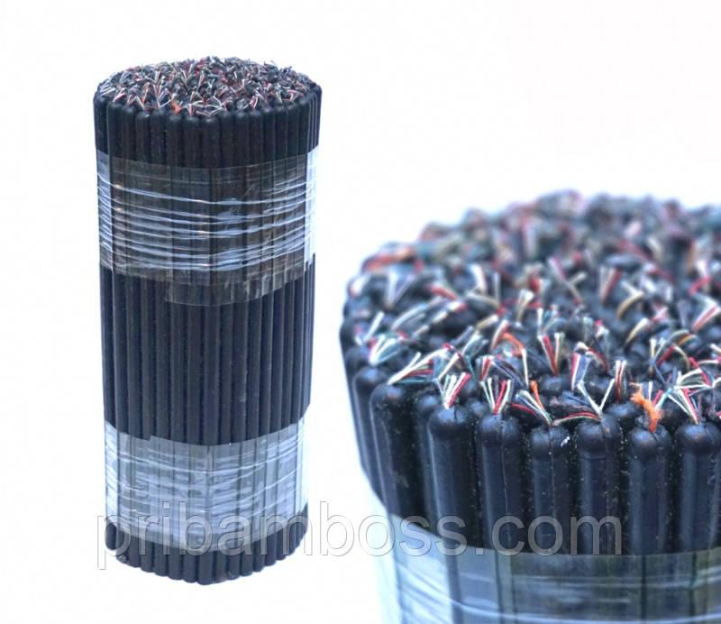 Свечи восковые магические пучек 1 кг. черные  20,5см.