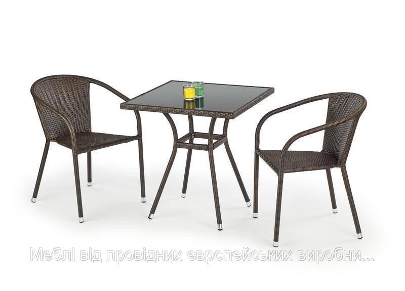 Стол MOBIL (темно-коричневый) (Halmar)