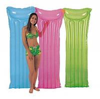 Пляжный надувной матрас Intex 59702. 3 цвета, 183-69 см