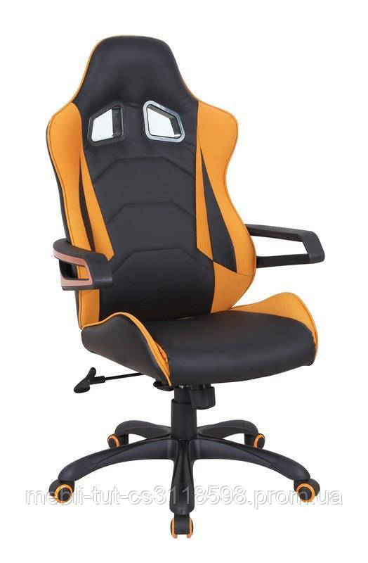 Компьютерное кресло MUSTANG (черно-оранжевый) (Halmar)