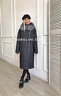 Пальто с мехом чернобурки Helen, фото 1