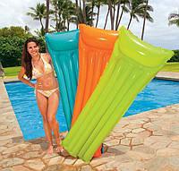 Пляжный надувной матрас Intex 59703. 3 цвета, 183-69 см